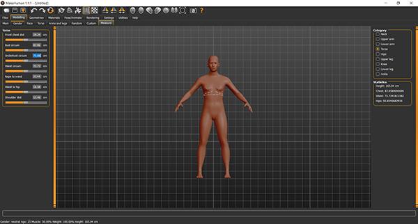 Makehuman screenshot