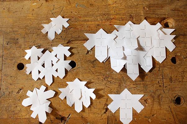 different paper leaf shapes