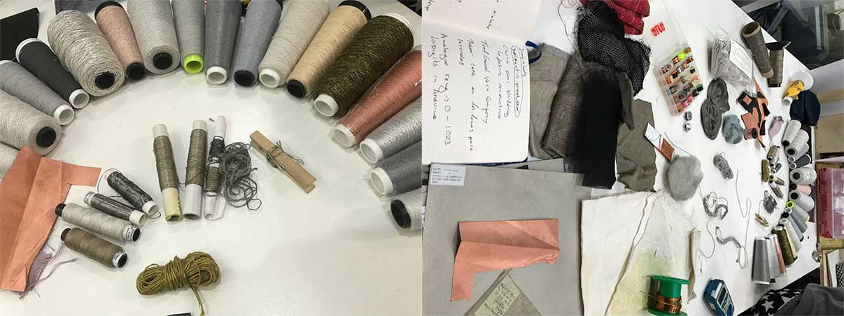 Soft conductive threads and fabrics