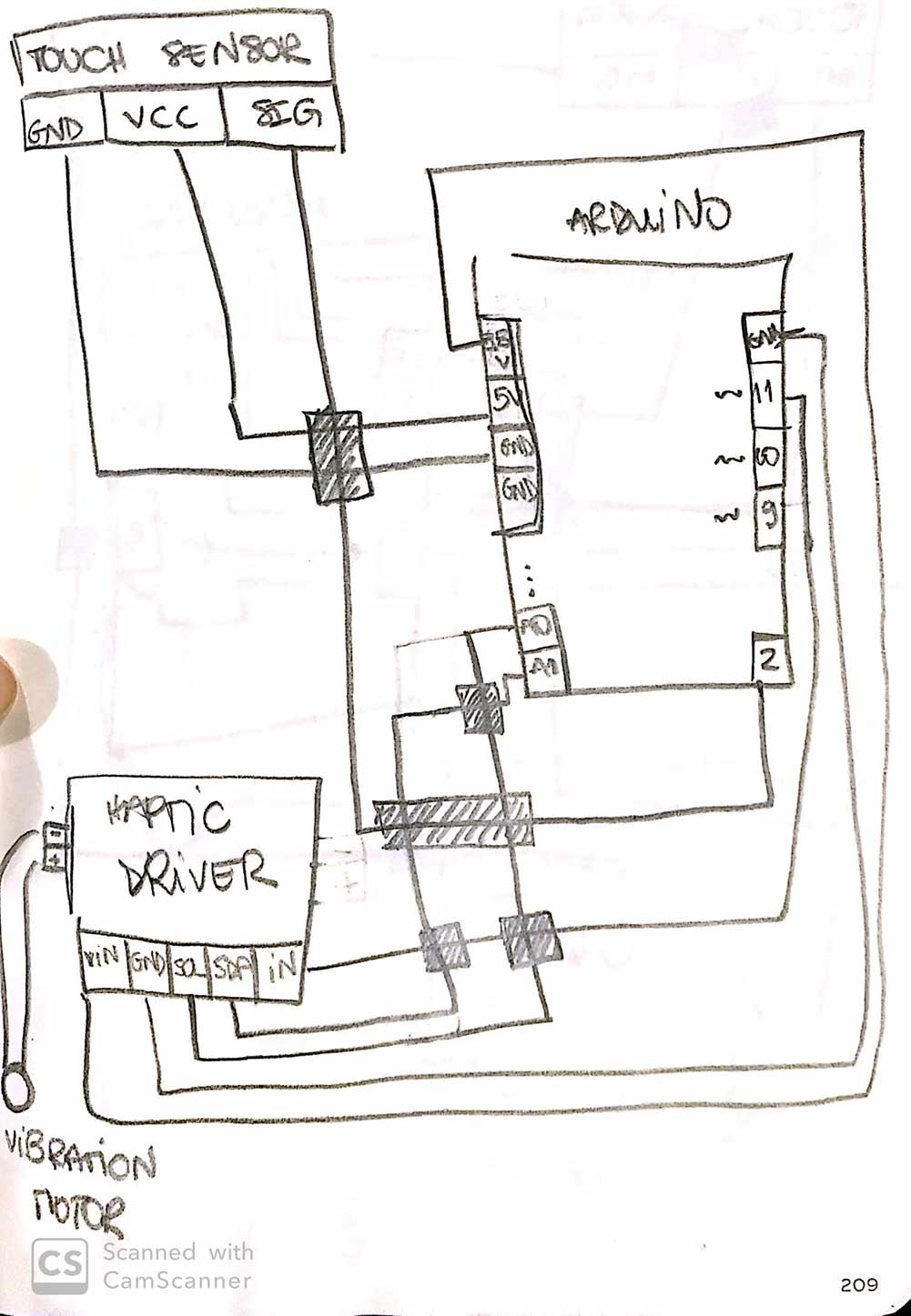 vib motor wiring
