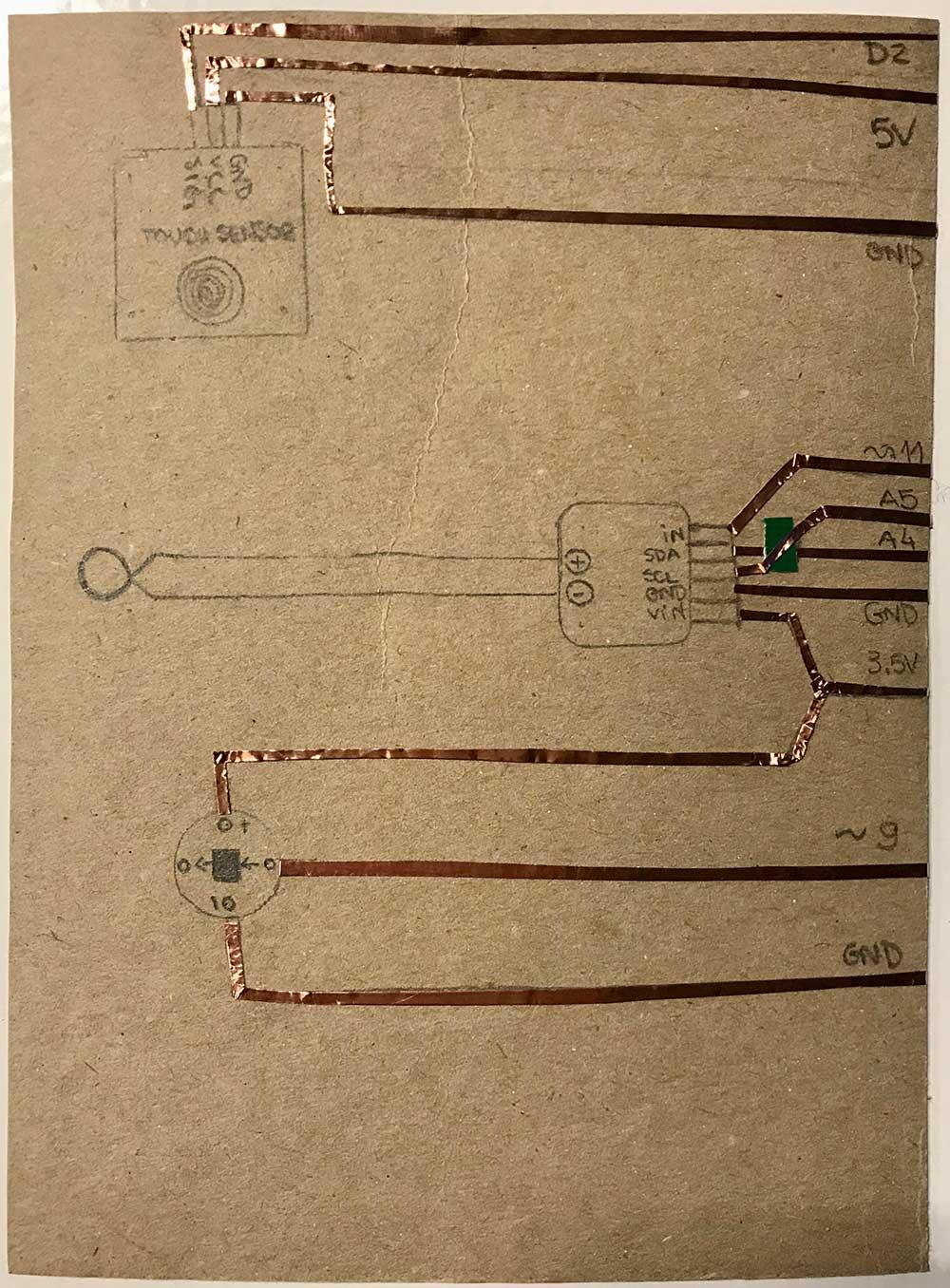 Copper Tape Circuit